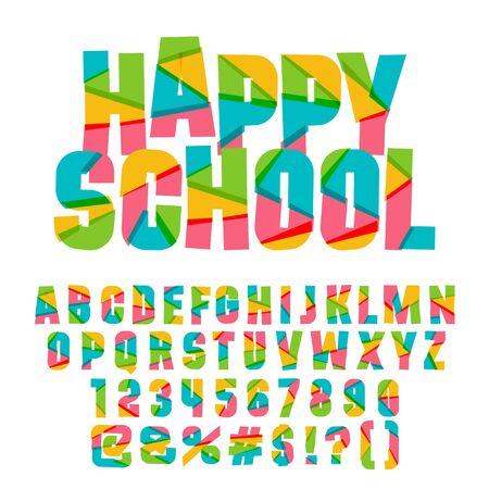 Set di colori vettoriali di lettere, numeri e simboli