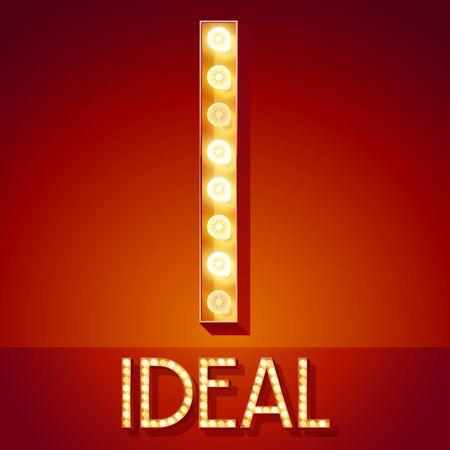 Chic retro Licht zurück mit leuchtenden Lampe Standard-Bild - 72456637
