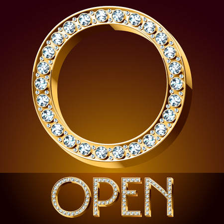 A Vector chic font luxury brilliant. Gold letter O.