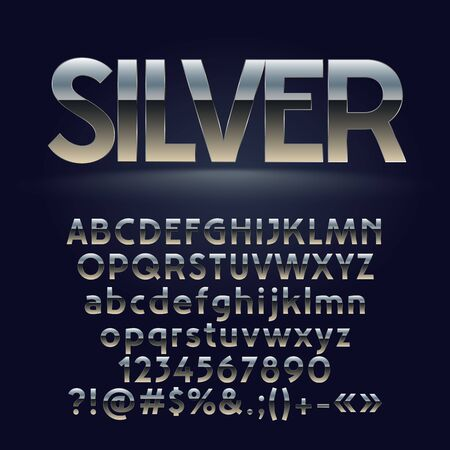 luxe: A Vector set of metallic letters, numbers and symbols. Contains graphic style Illustration