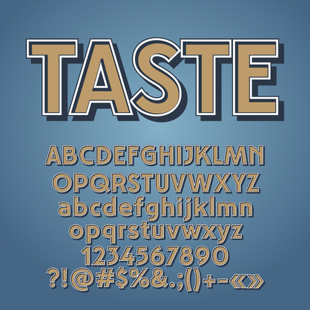 A Vector set of vintage letters, numbers and symbols. Contains graphic style. Çizim