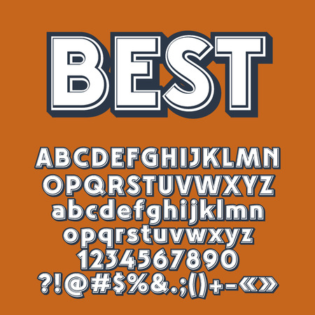 A Vector old style letters, numbers and symbols. Contains graphic style. Çizim