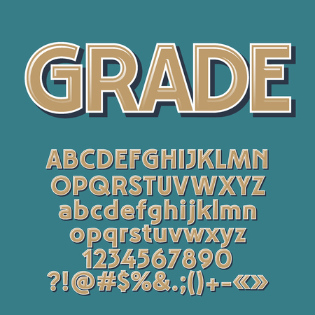 A Vector set of old fashioned letters, numbers and symbols. Contains graphic style.