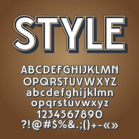 A Vector set of retro letters, numbers and symbols. Contains graphic style.