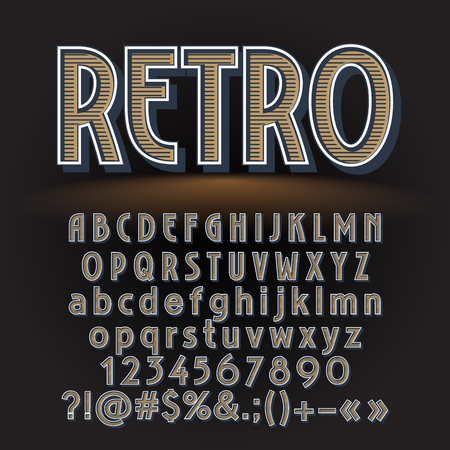 A Vector vintage letters, numbers and symbols. Contains graphic style.