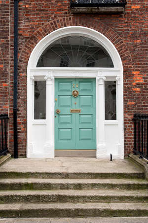 Georgian front door in Dublin, Ireland