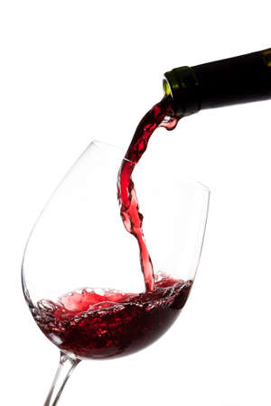 glass bowl: Red wine in a glass