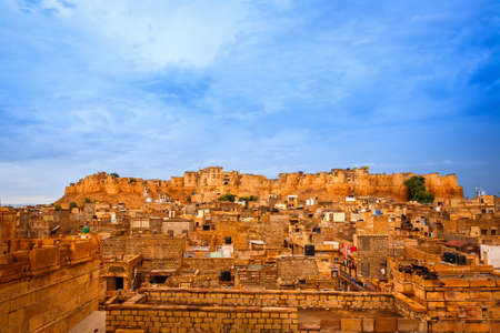 Panorama of the Golden Fort of Jaisalmer, India photo