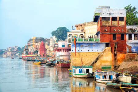 View Of Varanesi And Ganges River Reklamní fotografie
