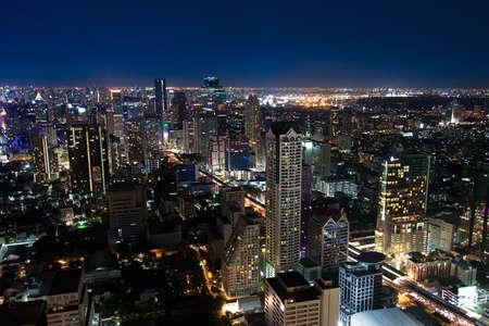 super highway: Night in Bangkok Stock Photo