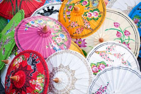 태국 우산 스톡 콘텐츠