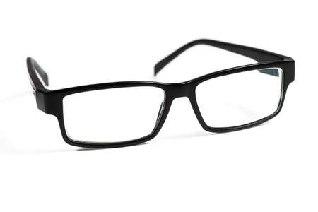 eyewear fashion: Black glasses on white