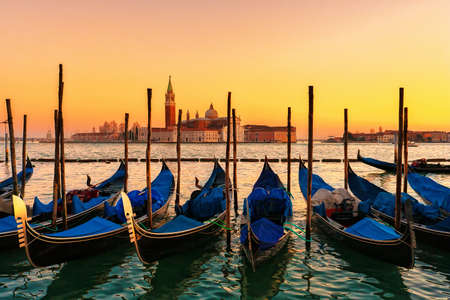 Sunset in Venice photo