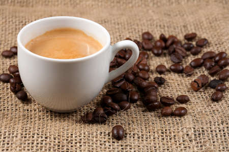 Coffee and beans photo