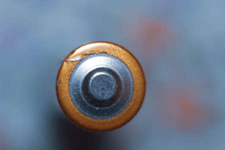 macro picture of battery, blurred background Stockfoto