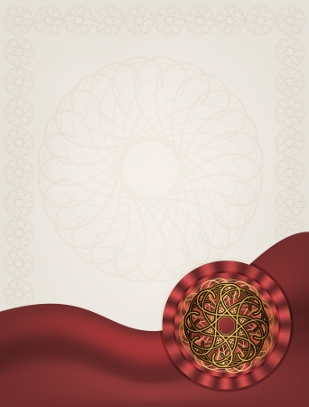 Luxury greeting card with gold ornament Vector