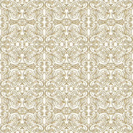 Antique ornate seamless pattern Illustration