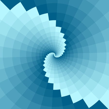 Blue background with geometric patterns  Background with a spiral Vector