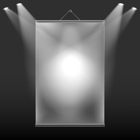projection: The projection of light on the wall screen Illustration