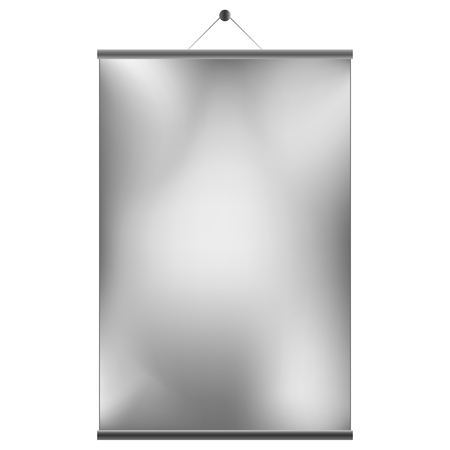 Sliding wall screen isolated on white background Vector