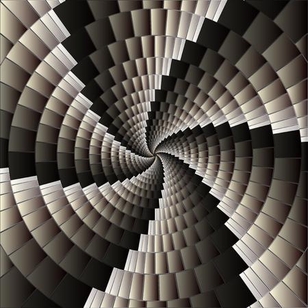 arte optico: Fondo abstracto con espiral