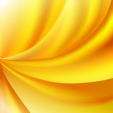 Bright yellow abstract background with waves Illustration