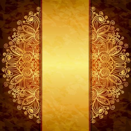 Vintage gold design. Template for the cover, invitation or menu Illustration