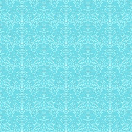 Gentle white seamless floral pattern on a blue background Vector
