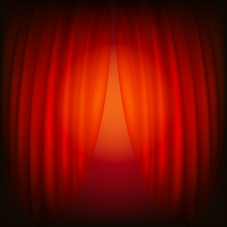 Red closed curtain, abstract background Stock Vector - 23492621