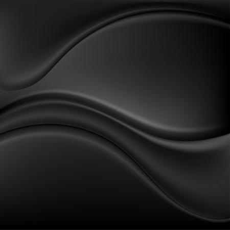 Glanzende zwarte achtergrond met abstracte golven