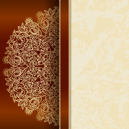 arabesque antique: Luxury card with a rich lace pattern  idea for invitations  there is a place for your text