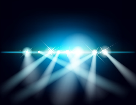 Abstract background with rays of light. Laser show Stock Vector - 23564834