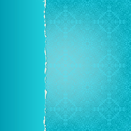 A beautiful set of blue paper with a pattern Vector