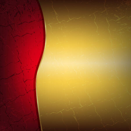 Red and gold metallic background with cracks. Place for your text