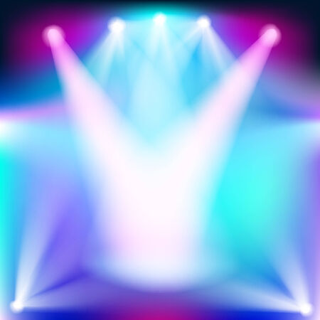 sporlights: Bright abstract background with light effects Illustration