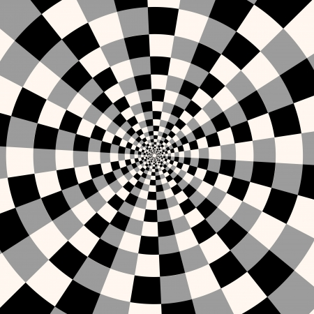 psychedelia: Abstract composition with black and white squares. Psychedelia Illustration