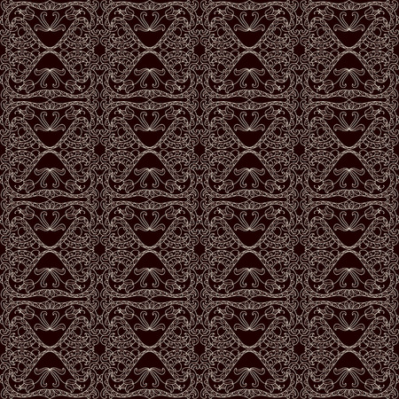 Seamless lace pattern with floral ornament Vector
