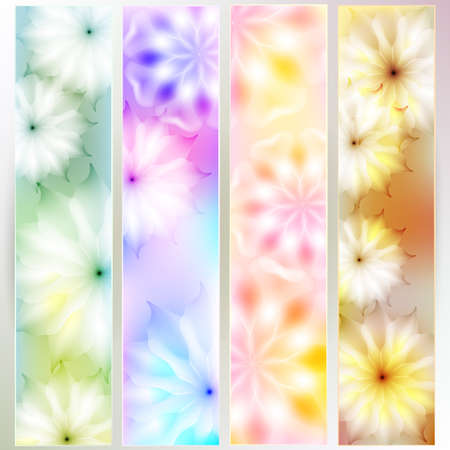 A set of colorful cards with floral design. Pastel range Vector