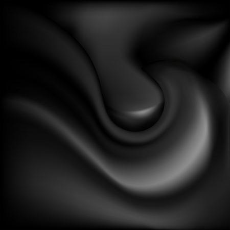 Glossy black background with abstract waves