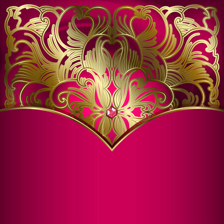 place for text: Luxury background with gold ornament. Place for your text