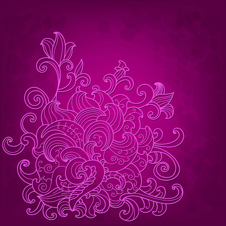 Pink background with lace flower