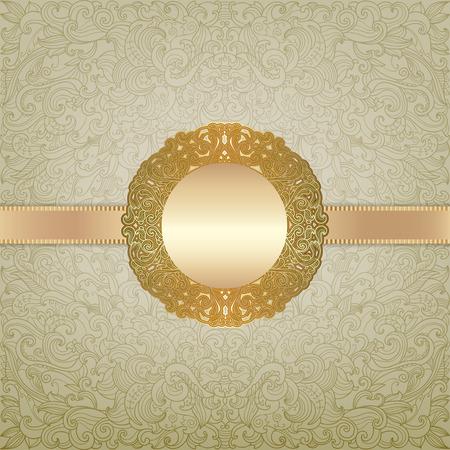 Royal golden frame with filigree ornament