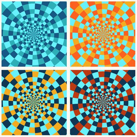 Set of abstract psychedelic patterns Vector