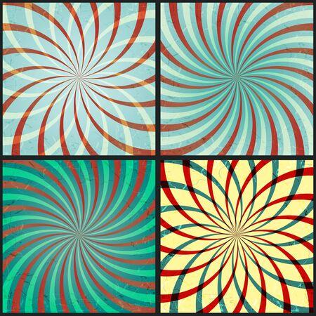 fondo de circo: Conjunto de fondos abstractos con los rayos