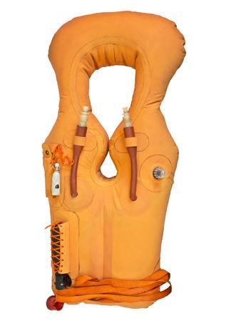 lifejacket: life jacket for passengers isolated on white background Stock Photo