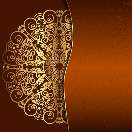 Luxury round openwork pattern. Template for the cover, invitation or menu Vector