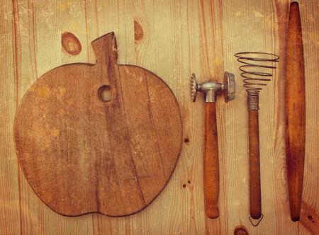 Vintage Utensili Da Cucina Rustica Foto Royalty Free, Immagini ...