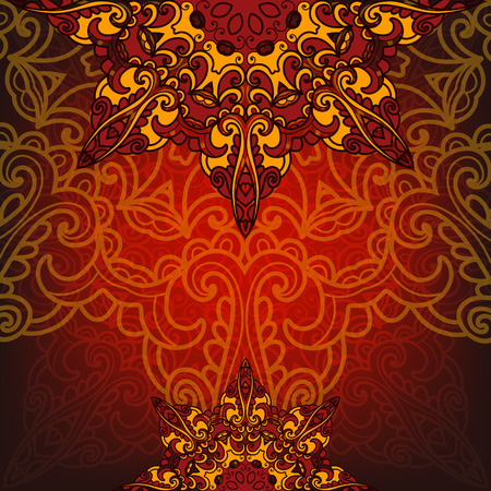 Exotic luxury card with pattern Vector