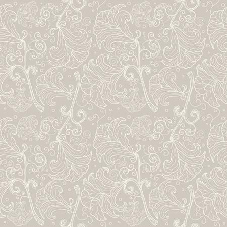 Abstrakte nahtlose Blumenmuster Kontur. Elegante Hochzeits-Hintergrund Standard-Bild - 28462128