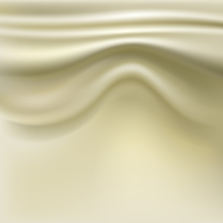 Silk fabric with pleats. Abstract background Vector